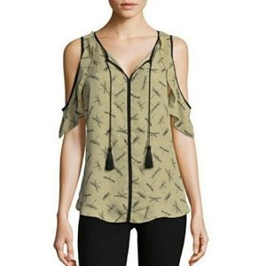 Libby Edelman Cold Shoulder Firefly Top